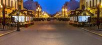 莫斯科风景街夜景