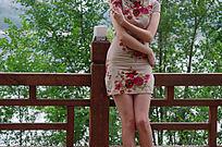 穿旗袍的美女模特