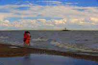 达赉湖风光