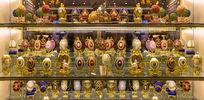 俄罗斯圣诞彩蛋陈列柜