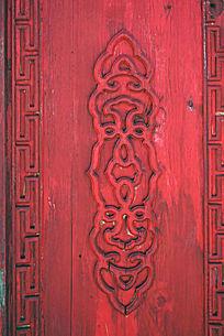 蒙古包木刻装饰图案