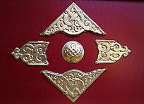 蒙古族风格金属装饰图案