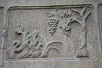 树木山石雕刻画