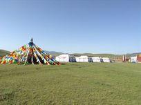 西藏草原 蒙古包