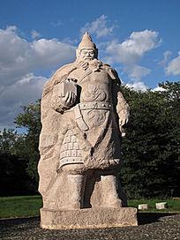 靺鞨雄杰大祚荣的雕像