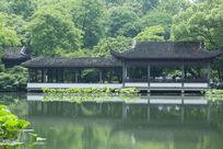 杭州西湖园林景观中国古典建筑