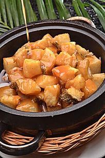 石锅土豆焗鳕鱼