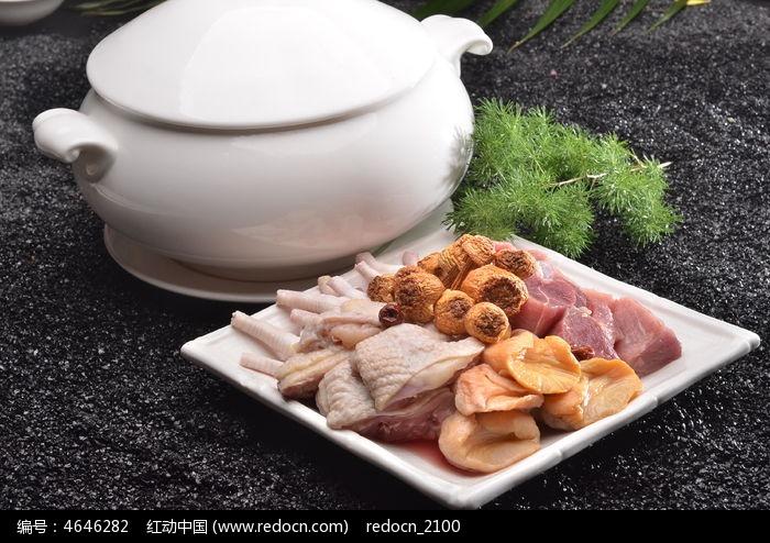 松茸黄金菌炖老鸽图片