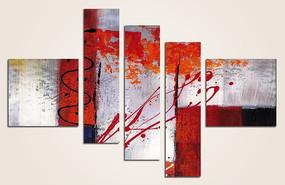 现代风格客厅抽象油画