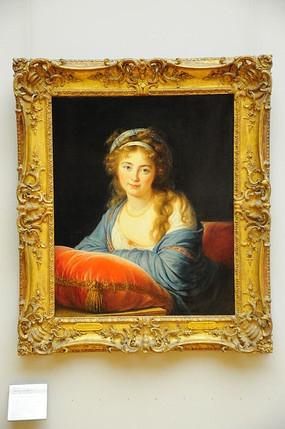 卢浮宫一个女人画像