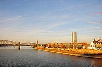 海德堡黄昏的蓝天白云