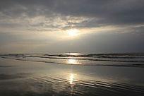 早晨的海上日出
