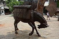茶马古道铜雕
