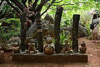 特色拉祜族木雕