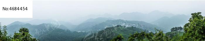 杭州南高峰群山龙井茶园全景图图片
