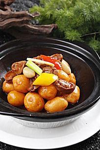 小土豆焖干鲍