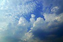 高清拍摄蓝天白云素材大图