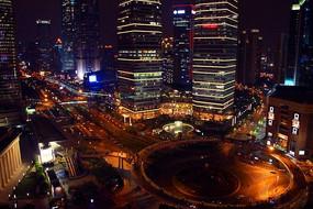 上海都市夜景