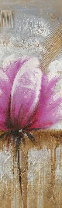 抽象油画花卉 玄关装饰画