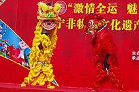 民俗节目舞狮子