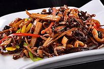 烧汁杂菌炒鳝柳