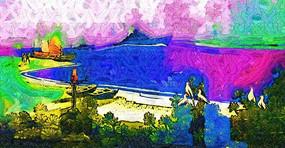 风景抽象画