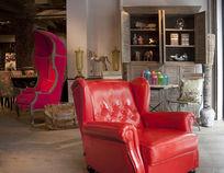 尊贵红英式沙发