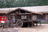 民俗村的茅草屋