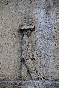 抽象人物浮雕画