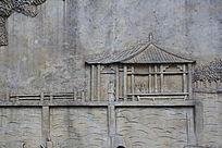 房子模型浮雕画