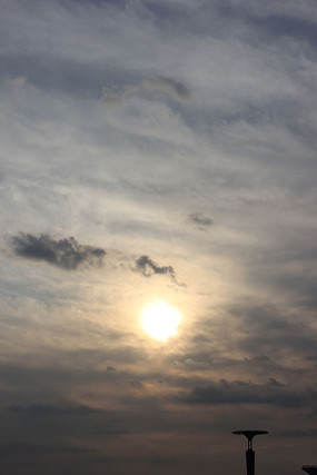 云彩与太阳背景图片