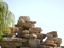 自然风化的石头