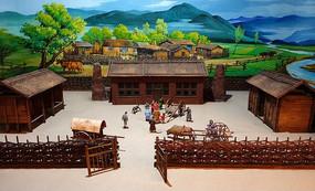 达斡尔族传统民居院落(微缩)