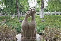 猫雕塑图片