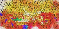 色塊抽象裝飾畫