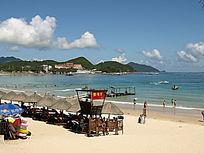 海南三亚大东海自然风光图