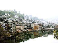 湖南湘西凤凰古城古建筑特写图
