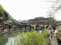湖南湘西凤凰古城图