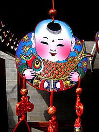 传统艺术手绘中国娃