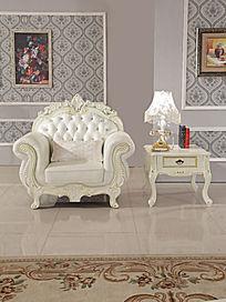 欧式豪华经典单人位沙发