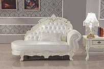 白色双人位沙发