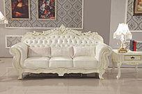 白色欧式沙发