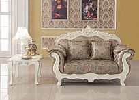 欧式豪华经典双人位沙发