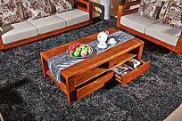 中式现代沙发茶几