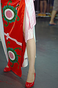 cosplay少女腿部特写