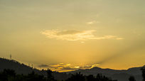 夕阳剪影素材