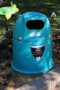 创意搞怪笑脸垃圾桶