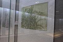 草丛中的蚂蚱水墨画图片