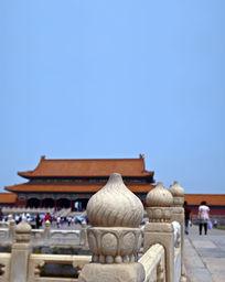 北京故宫汉白玉柱子