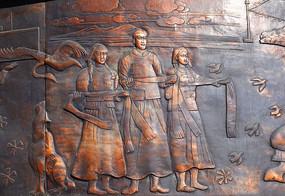 铜雕《欢迎远方的客人》